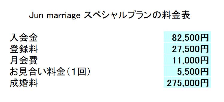 Jun marriageスペシャルプラン
